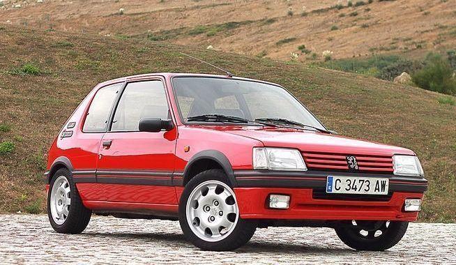 Peugeot 205 gti rood